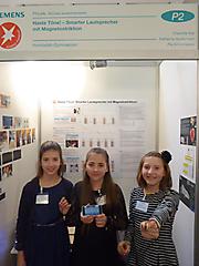 Katharina Austermann, Pia Schirrmeister, Charlotte Klar: Physik 2. Platz Schüler experimentieren
