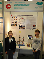 Charlotte Klar, Katharina Austermann, Emma Sonnenberg: Physik, 1. Preis Schüler experimentieren