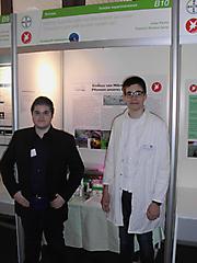 Richard Gamp, Julian Karimi: Biologie Schüler exp., 1. Platz + Teilnahme Landeswettbewerb + Sonderpreis der Gesellschaft für zerstörungsfreie Prüfung