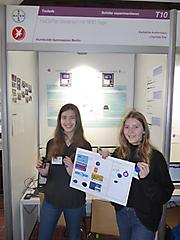 Katharina Austermann, Charlotte Klar: Technik Schüler exp., hochgestuft zu Jugend forscht; 1. Preis; Teilnahme am Landeswettbewerb