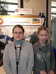 Lydia Swatzina, Lisa Bommersheim: Geo- und Raumwissenschaften 1. Platz Schüler experimentieren